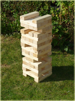 Giant Jenga Tower blocks garden game hire
