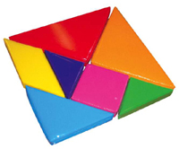 Tangram team building puzzle and icebreaker game