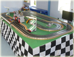 Giant scalextric slot car racing circuit hire product