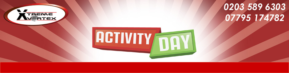 Activity Day provide activities and inflatables for hire including rock climbing, laser tag, human table football, bungee run, gladiator joust team building activities and inflatable sports games.